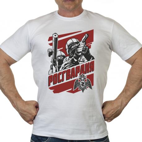 """Мужская футболка с достойным принтом """"Росгвардия"""""""