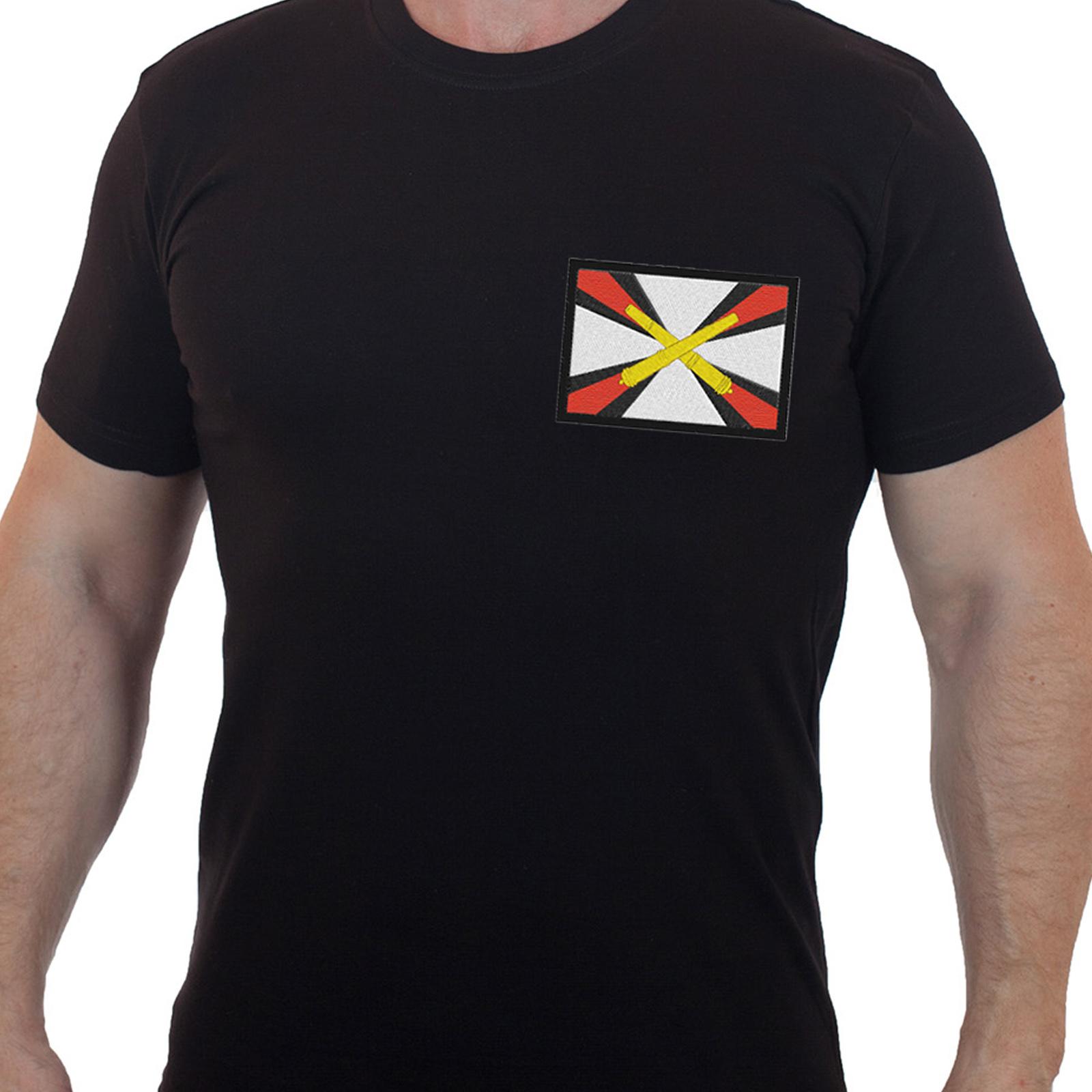 Уставная мужская футболка с эмблемой Артиллерия России