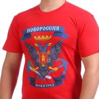 Красная футболка с символикой Новороссии