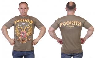 Заказать футболку с гербом и надписью Россия