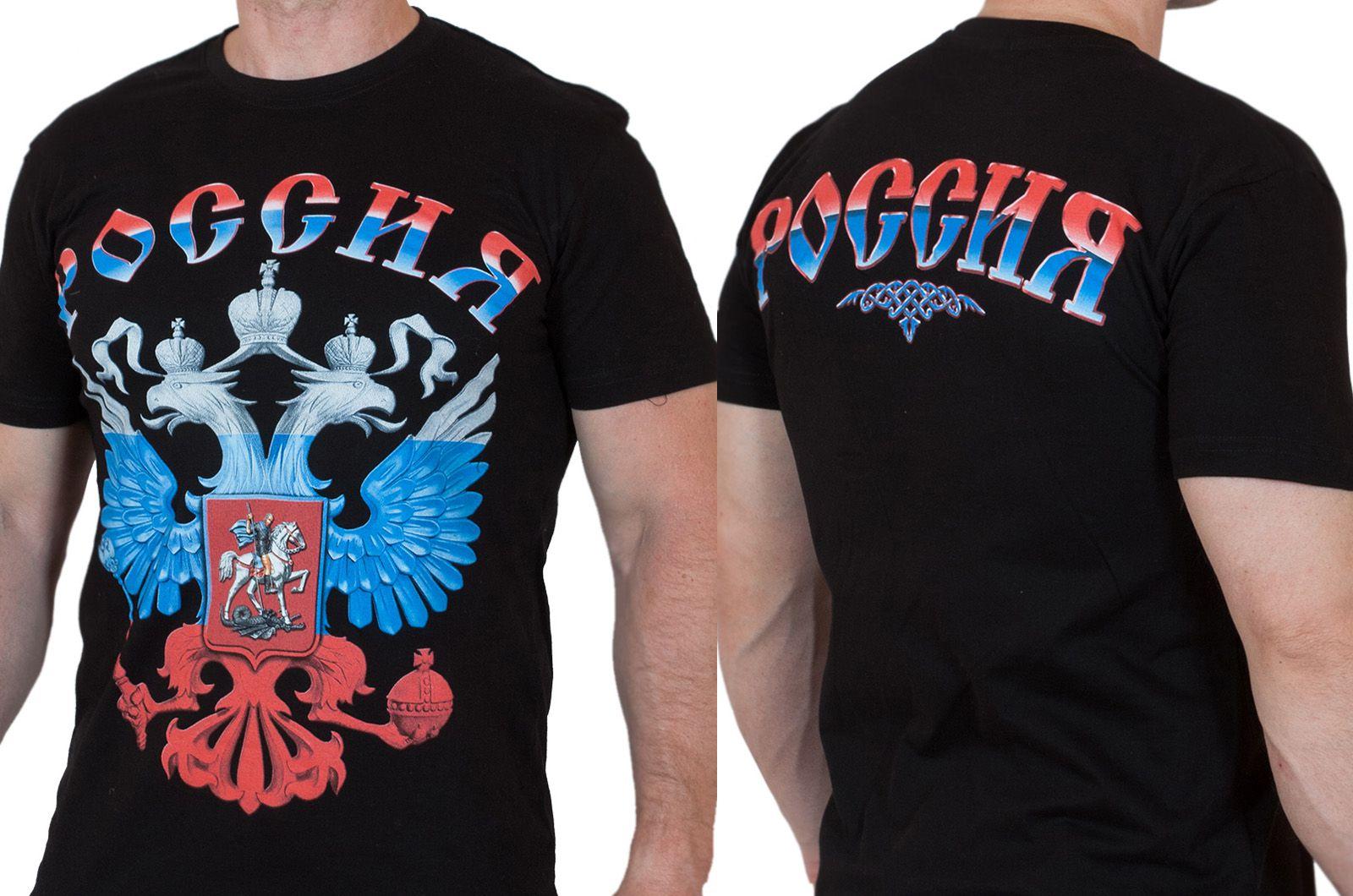 Заказать футболки с гербом России