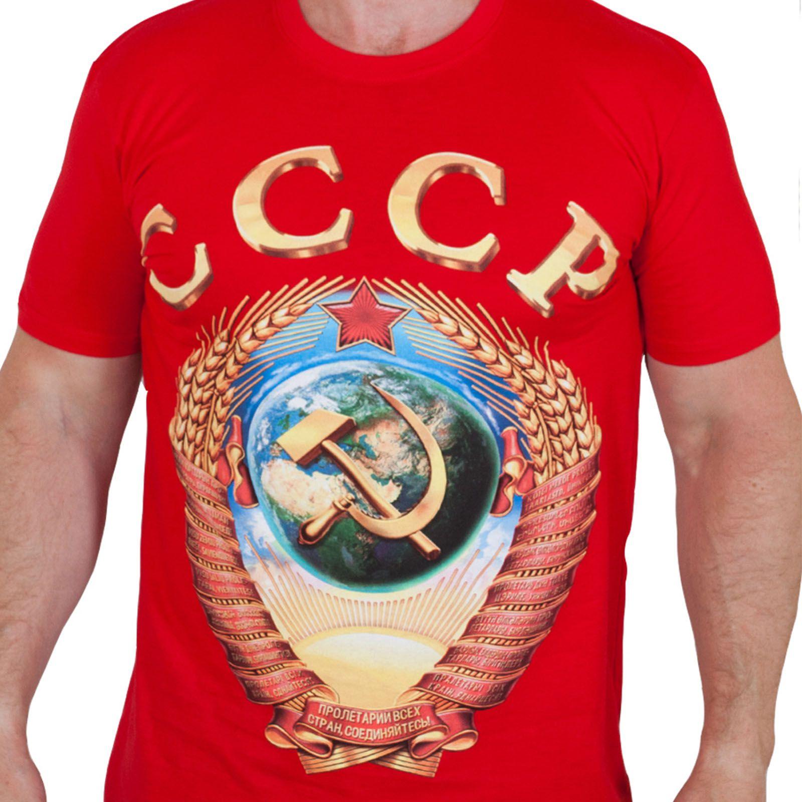 Красная футболка СССР