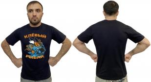 Мужская футболка с надписью Клёвый рыбак