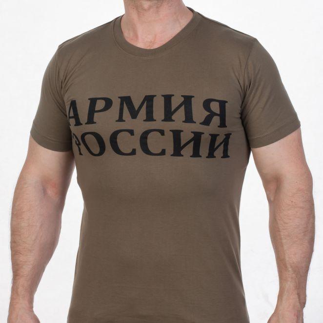 Стильные футболки и майки цвета хаки
