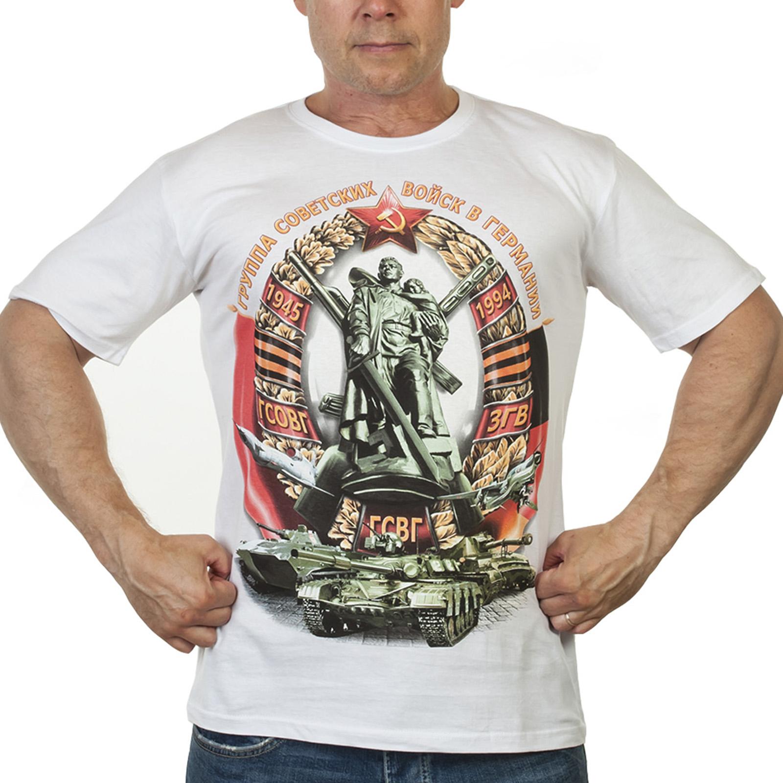 Хлопковая футболка с принтом ГСВГ