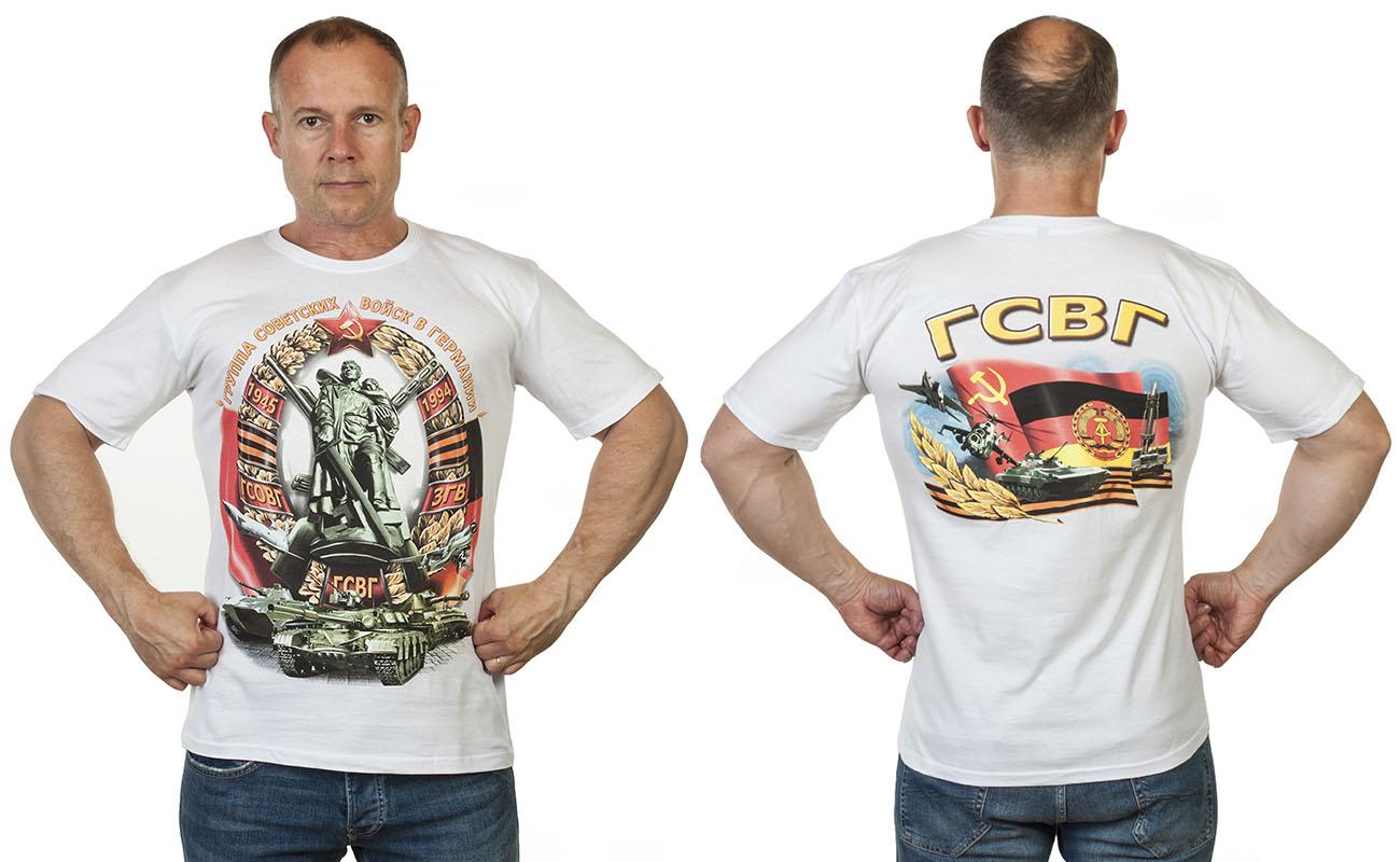 Хлопковая футболка с принтом ГСВГ с доставкой