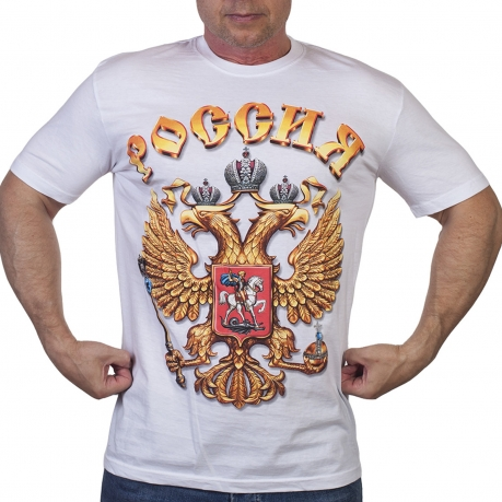 Футболка с надписью Россия | Купить футболку с надписью Россия