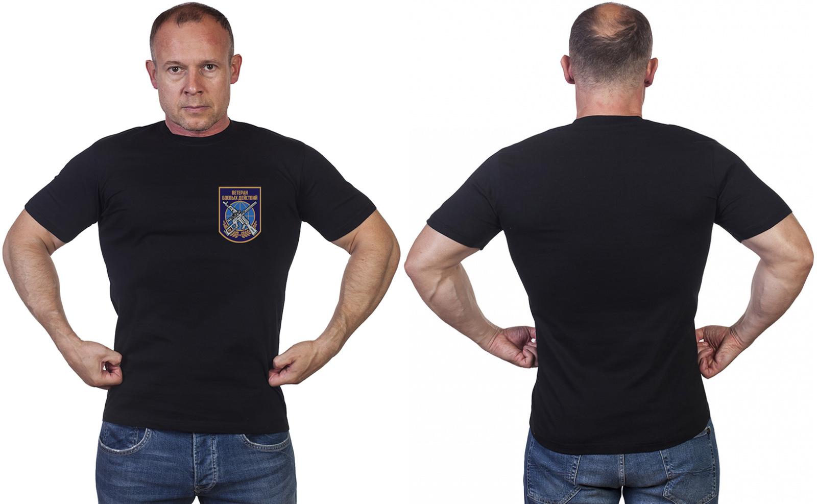 Футболка с надписью «Ветеран боевых действий»