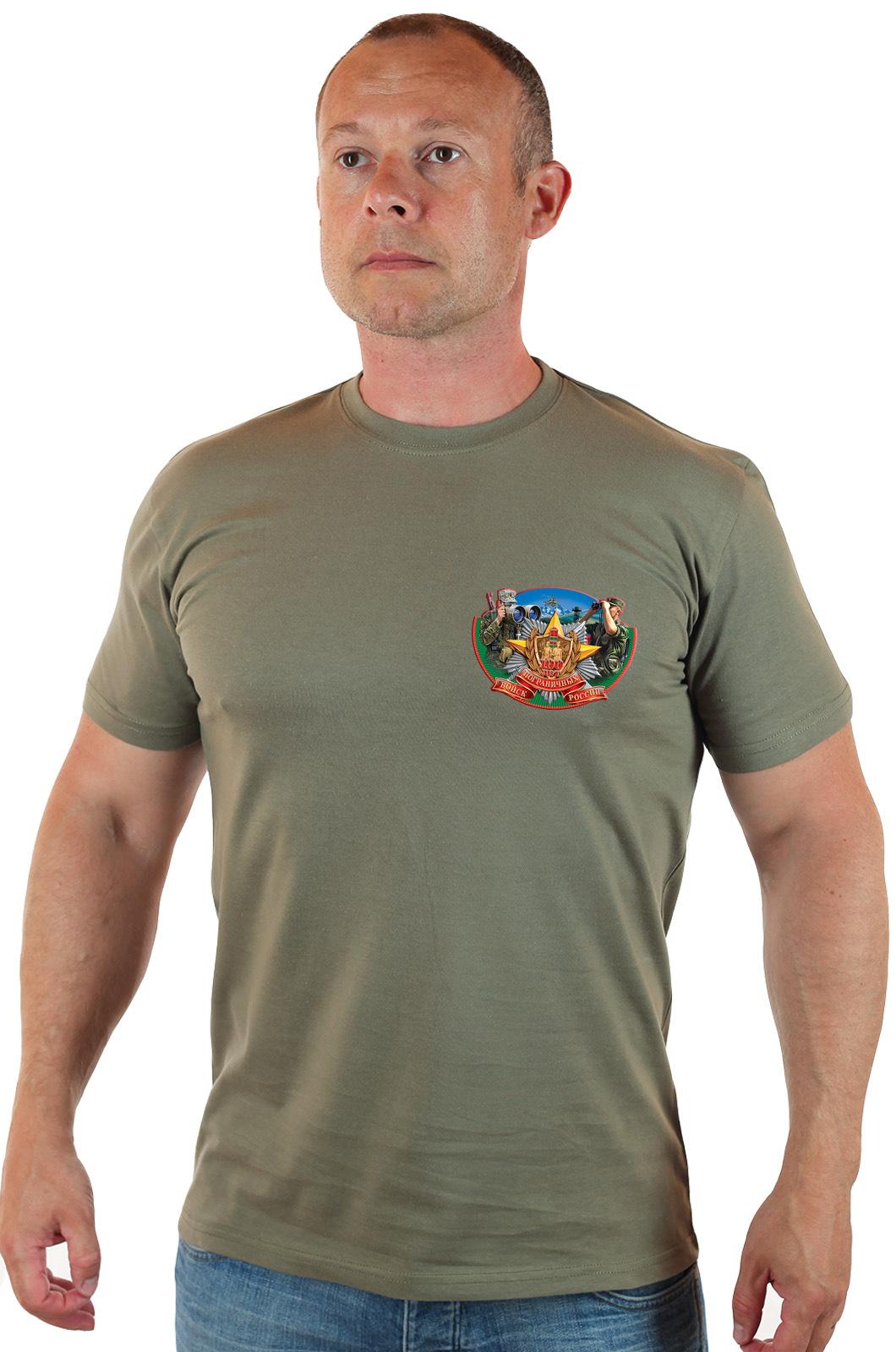 Купить в Москве футболку с пограничным принтом