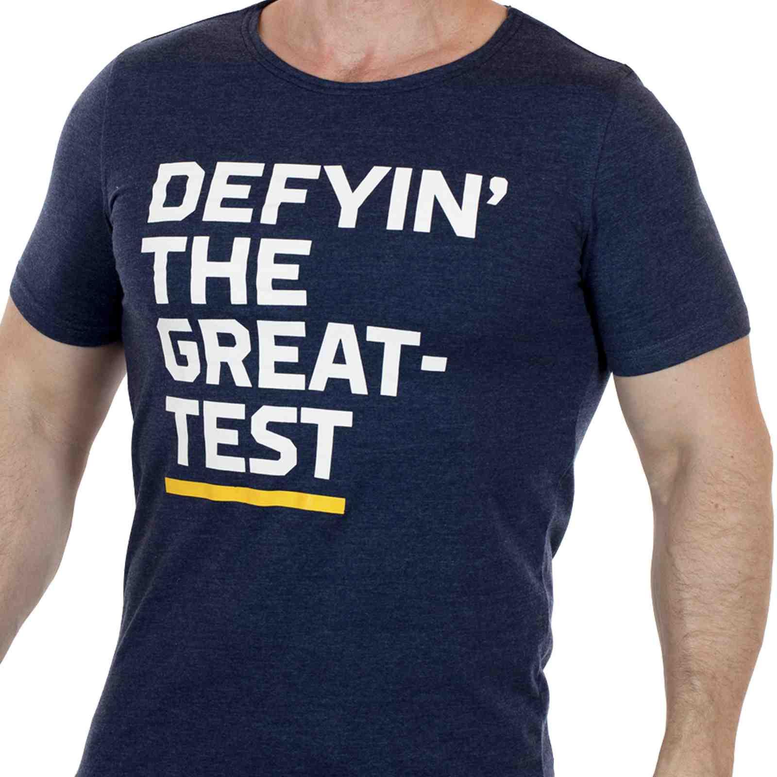 Футболка с принтом Defyin` the greatest для неординарных мужчин
