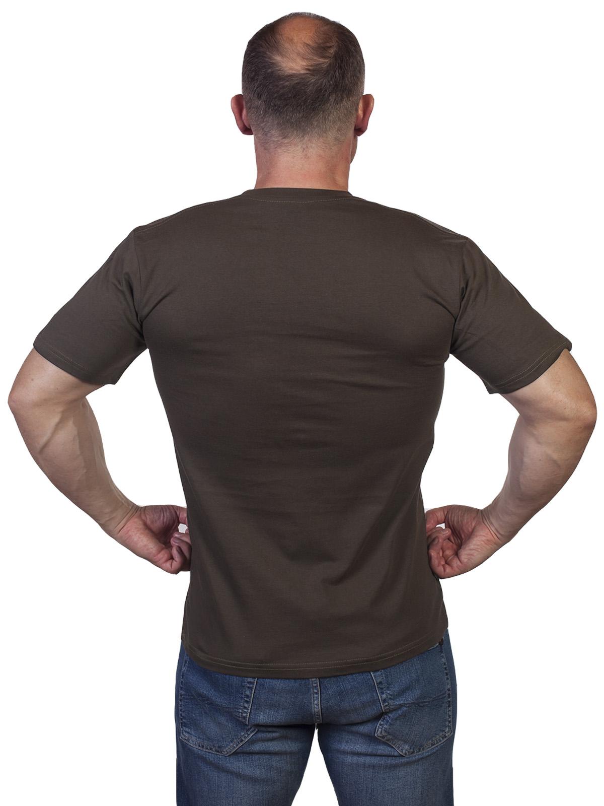 Мужская оливковая футболка с принтом ВДВ ГРУ