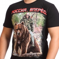Футболка с Путиным на медведе