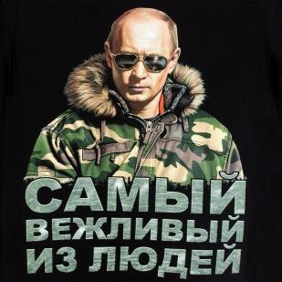 Футболка с Путиным в очках - оригинальный принт