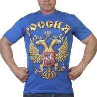 Футболка с российским гербом