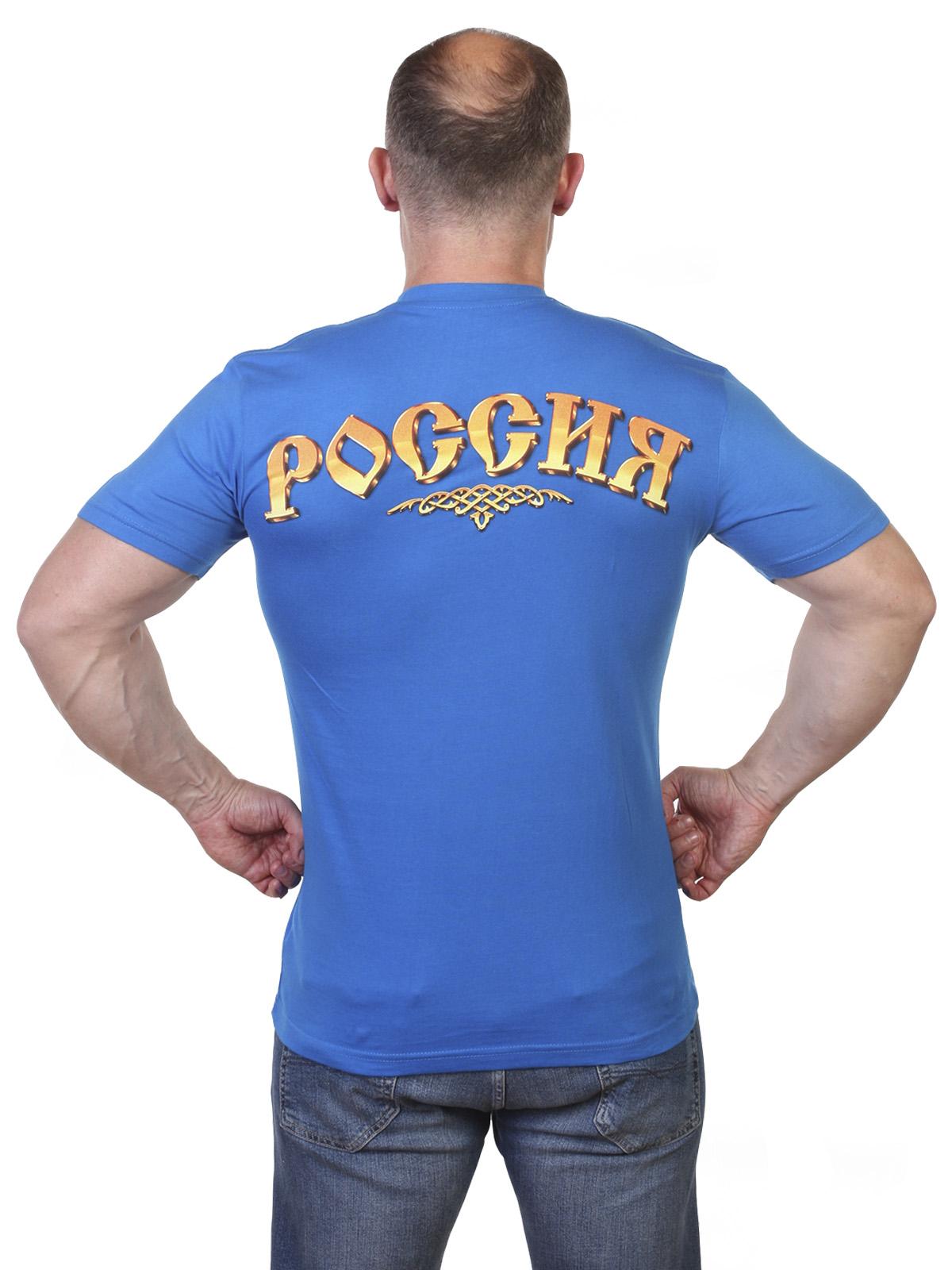 Футболка с российским гербом по выгодной цене