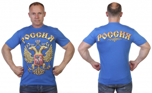 Заказать футболки с российским гербом