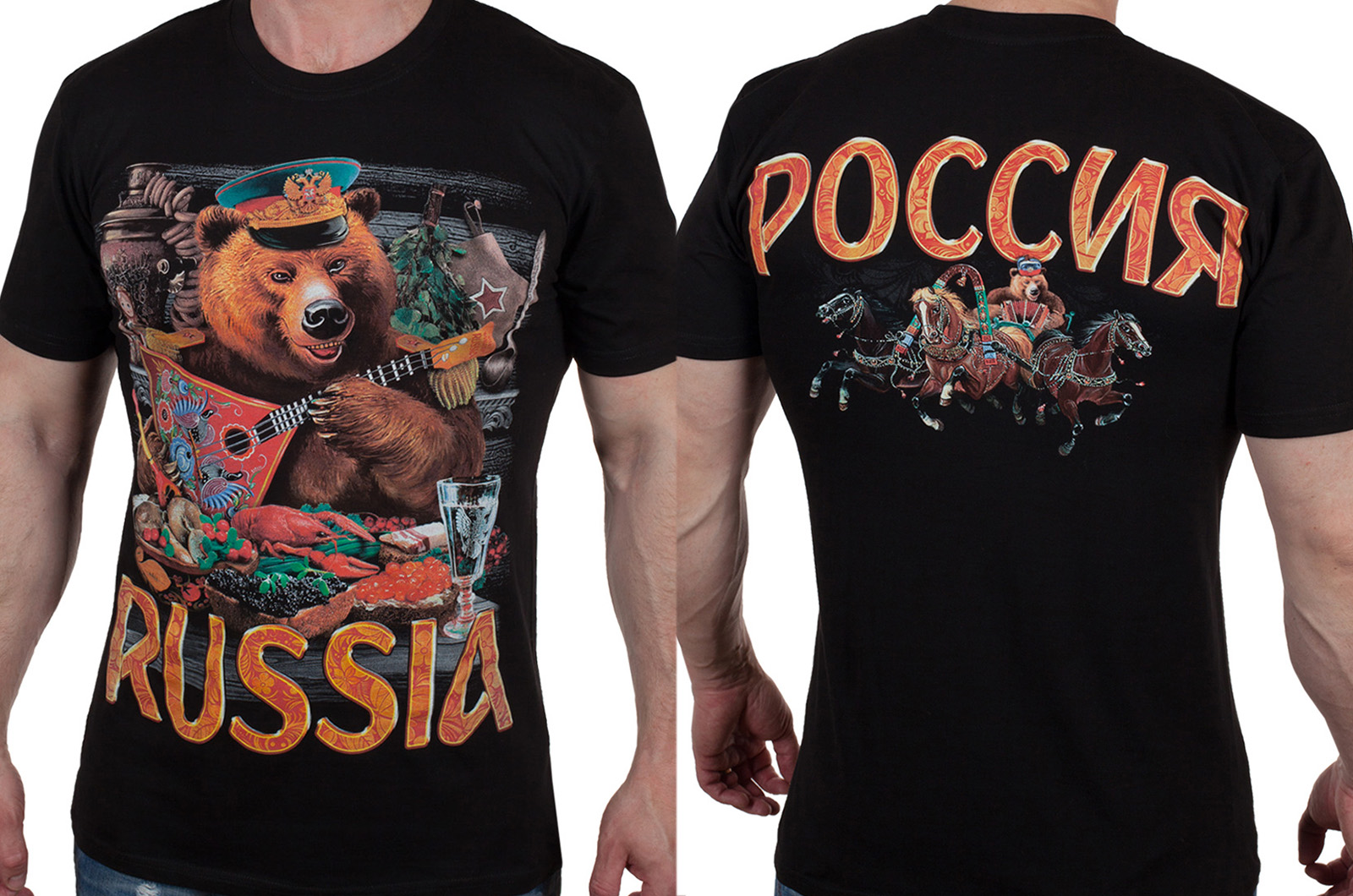 Заказать футболку с русским медведем