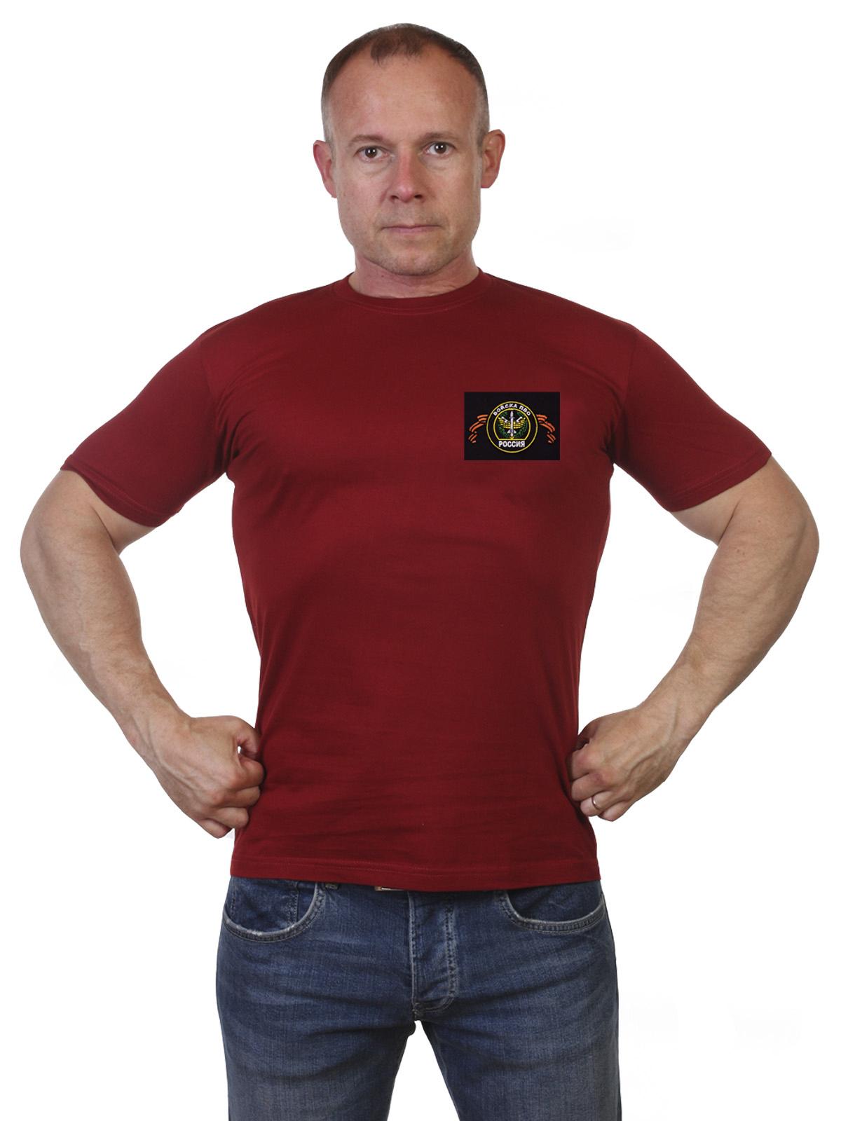 Купить краповую футболку с шевроном ПВО