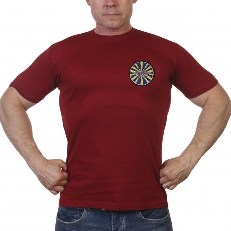 Мужская футболка с шевроном ВВС России