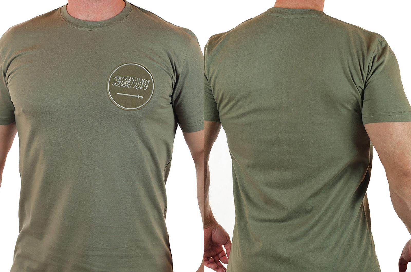 Мужская армейская футболка с символикой Саудовской Аравии