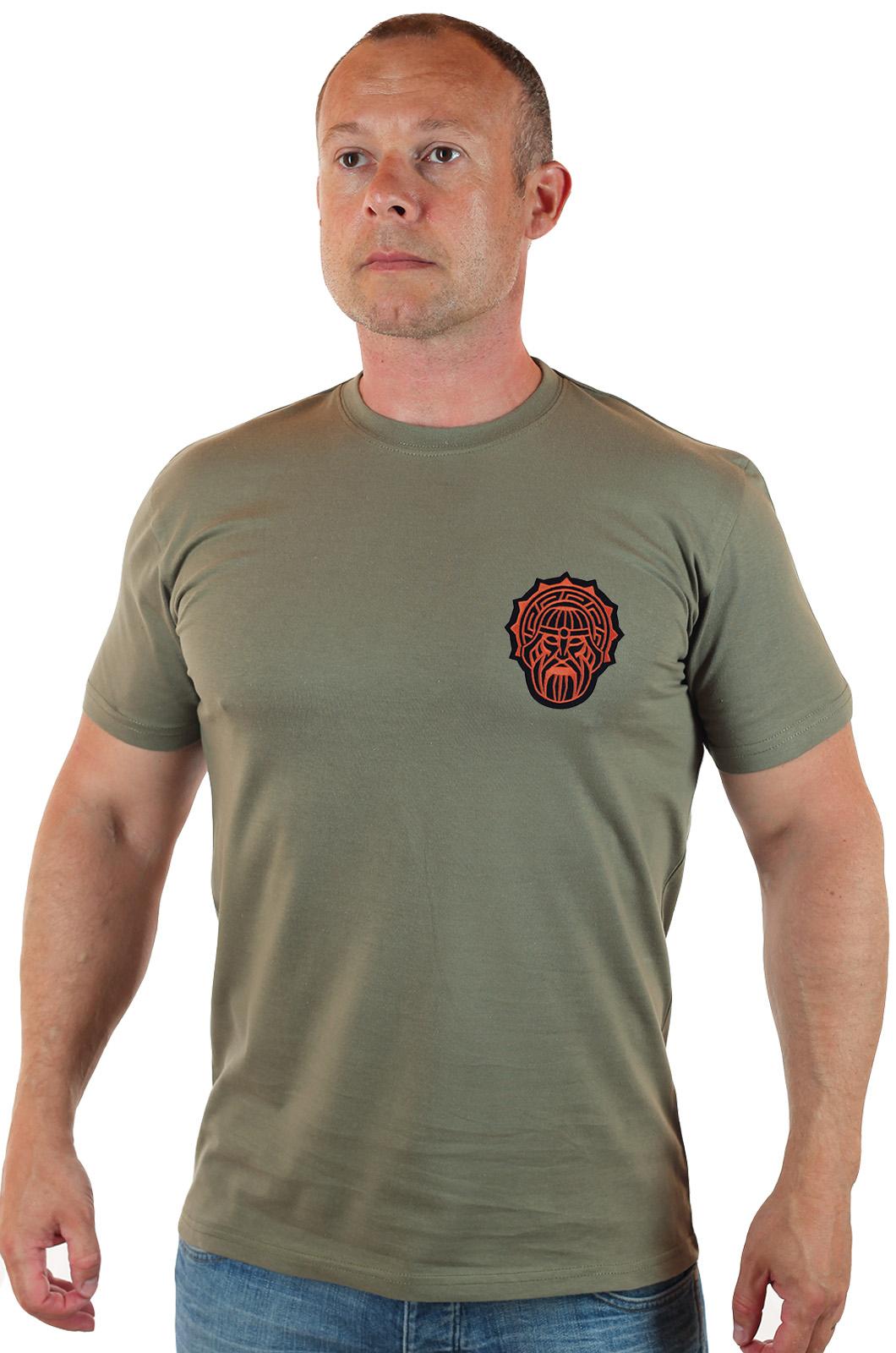 Купить мужскую футболку с символом славянского Бога Сварога