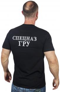 """Черная футболка с вышивкой """"Спецназ ГРУ"""""""
