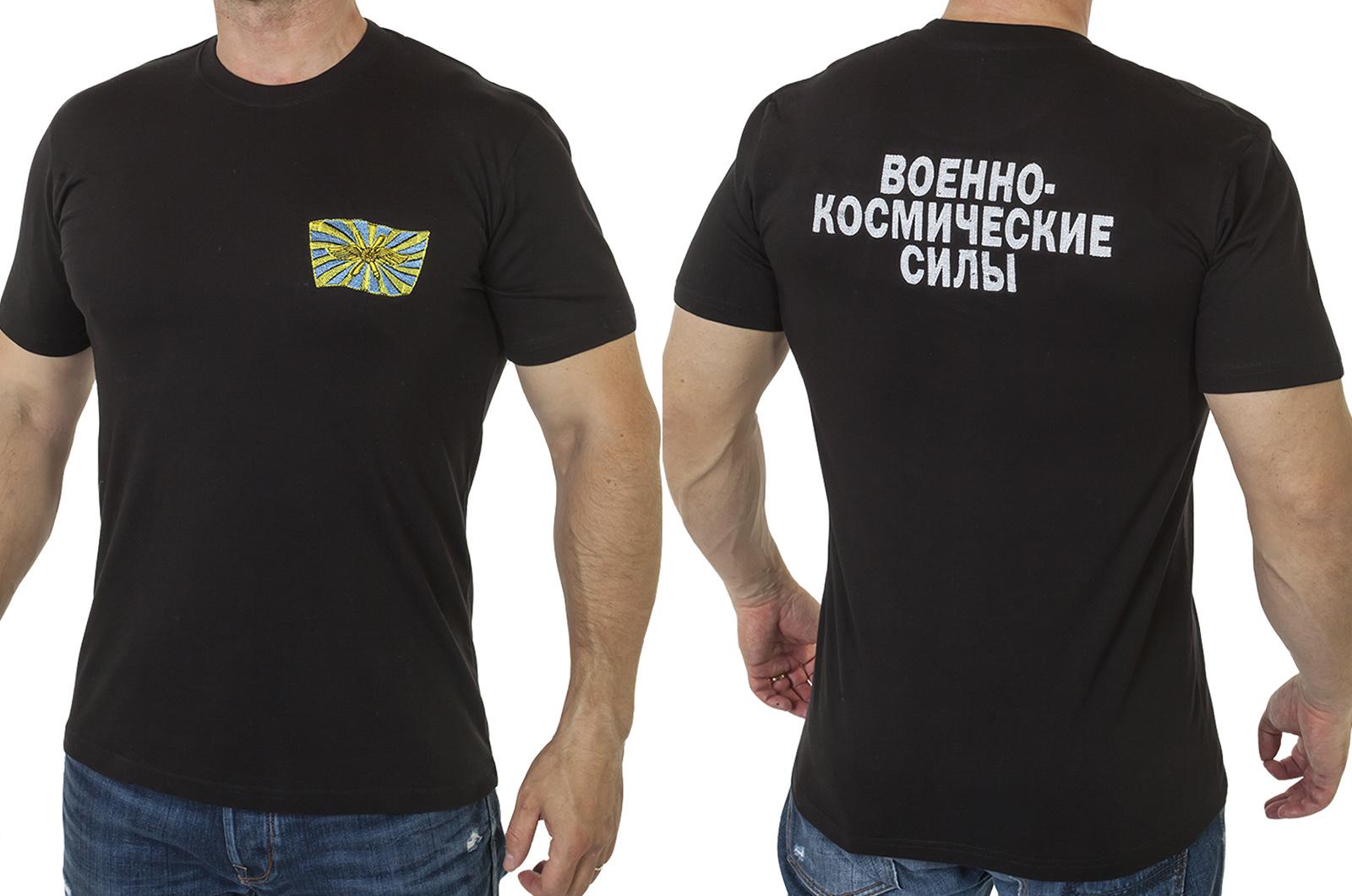 """Заказать футболку с вышивкой """"Военно-космические силы"""""""