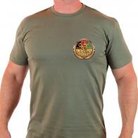 Мужская милитари футболка с юбилейным шевроном АФГАНИСТАН.