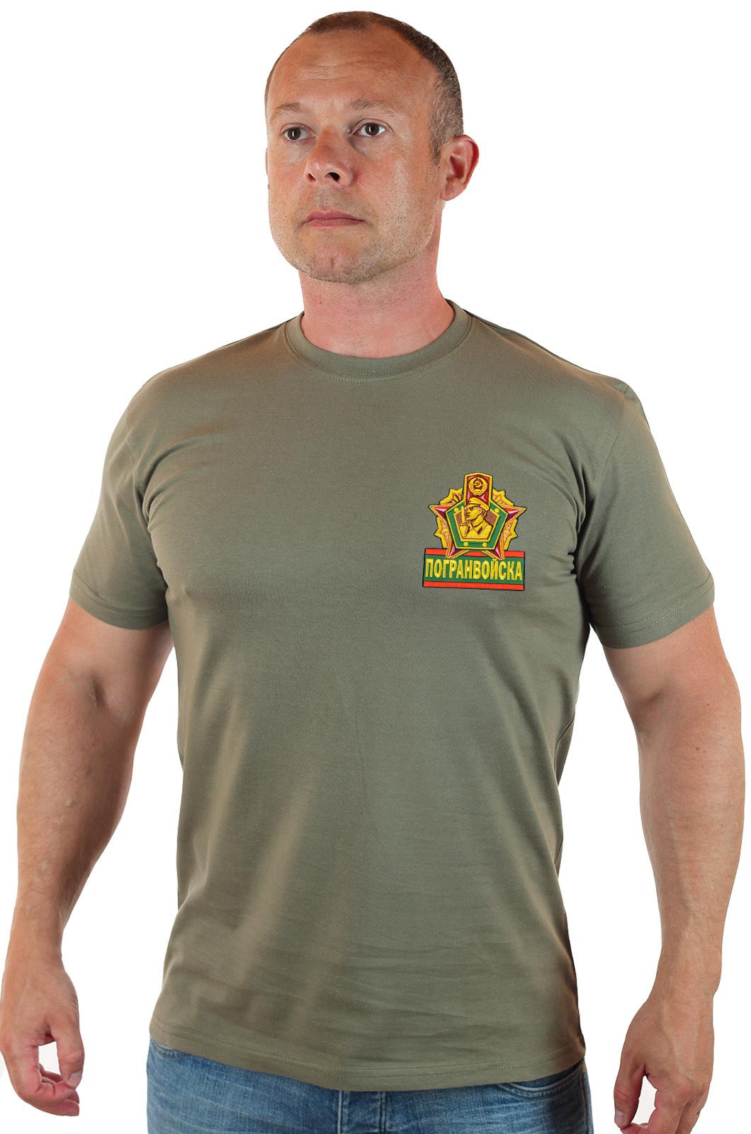 Купить футболка с эмблемой Погранвойск – отправим уже завтра