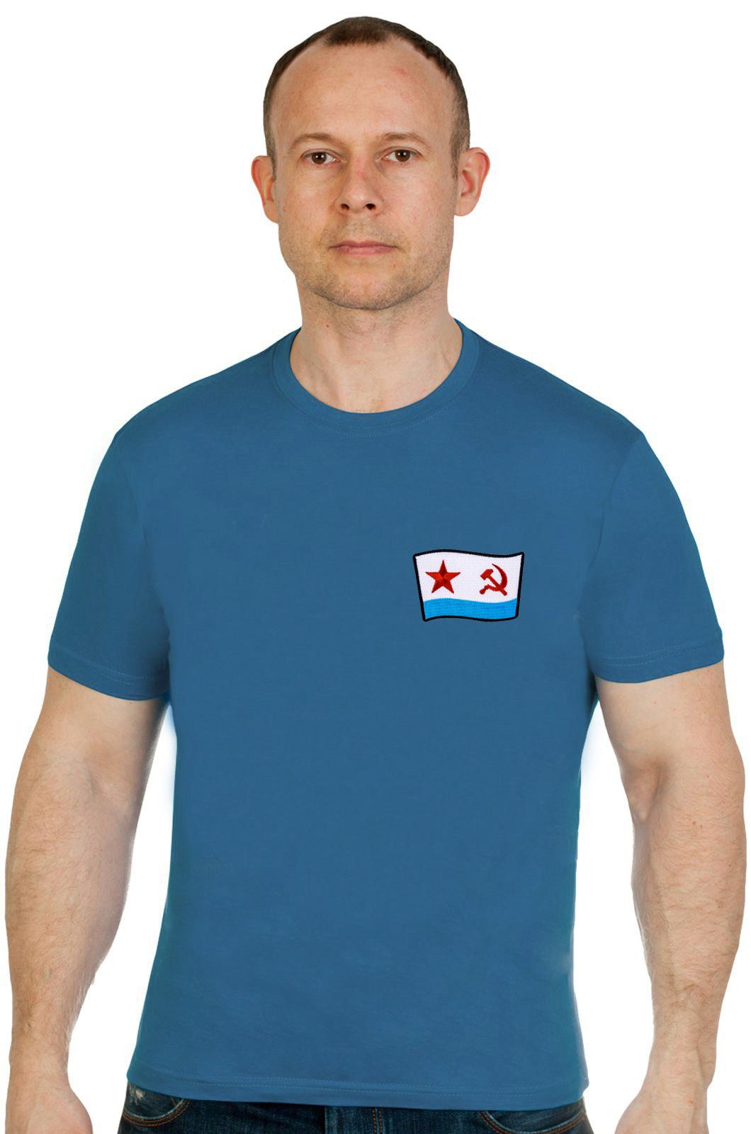 Недорогая хлопковая футболка ВМФ СССР