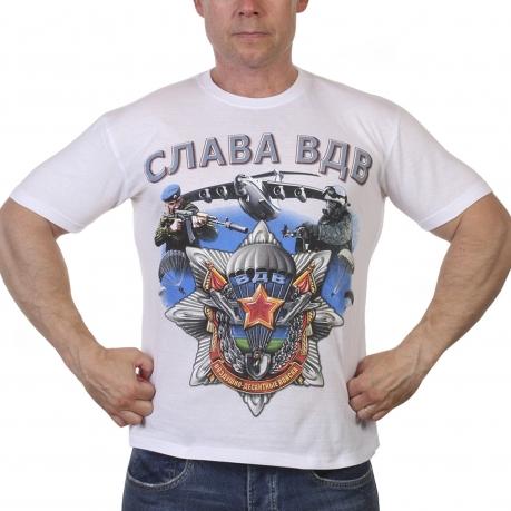 Белая футболка Слава ВДВ