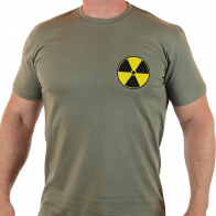 Натуральная мужская футболка со знаком РАДИАЦИЯ