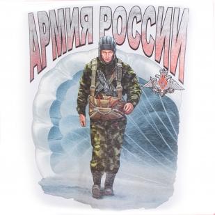 """Белая футболка """"Солдаты России"""" с принтом"""