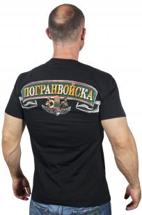 Мужская хлопковая футболка «100 лет Пограничным войскам» по выгодной цене
