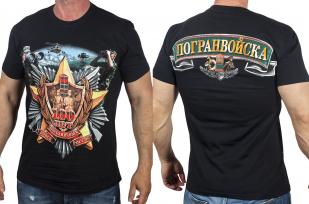 Мужская хлопковая футболка «100 лет Пограничным войскам» с доставкой