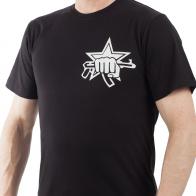 Черная мужская футболка с эмблемой спецподразделений Росгвардии – статусно и недорого!