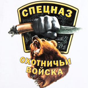 Белая футболка с медведем с цветным авторским принтом