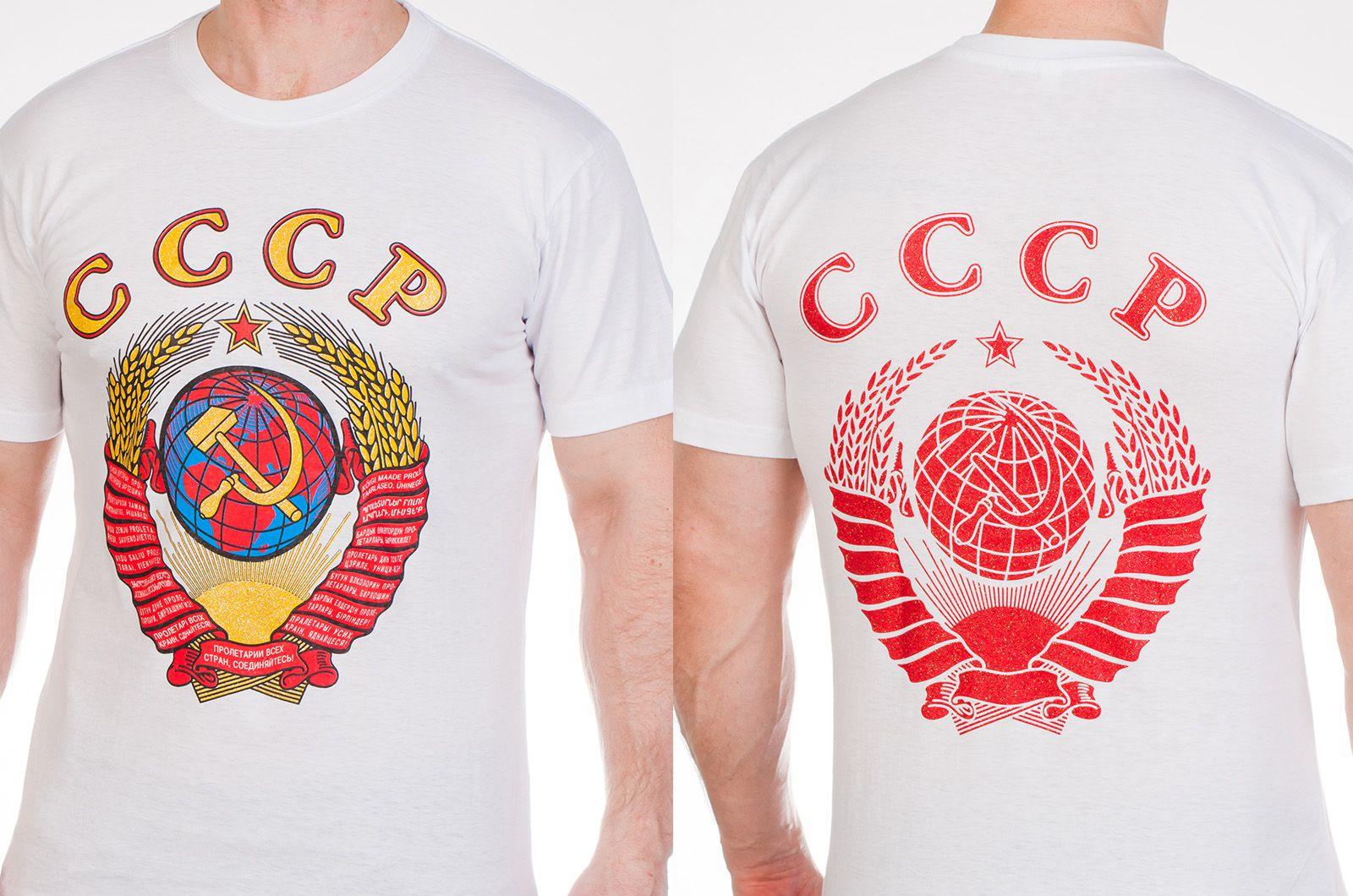 Заказать футболки «СССР» с гербом