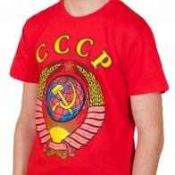 Яркая футболка с государственным символом СССР. Качество, низкая цена, быстрая доставка!