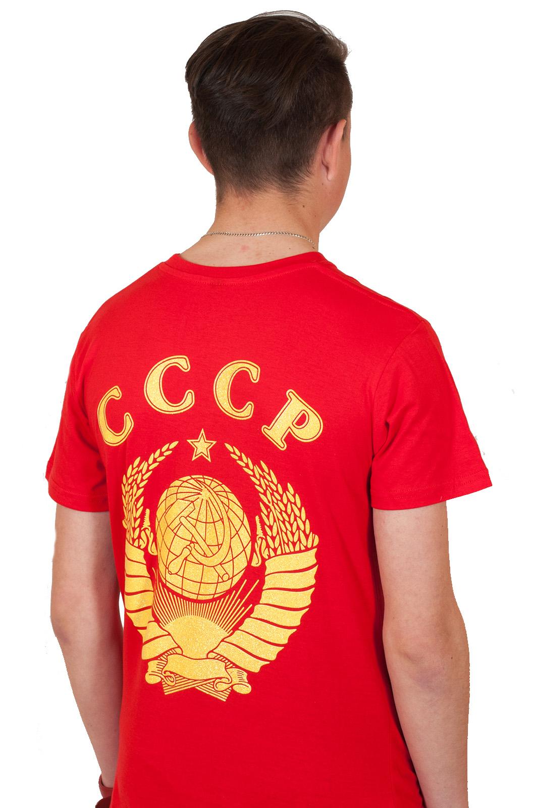 Красная футболка «СССР с Гербом»