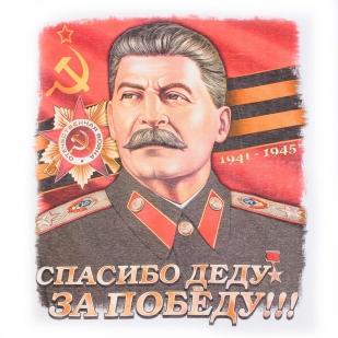 """Белая футболка """"Сталин"""" с принтом"""