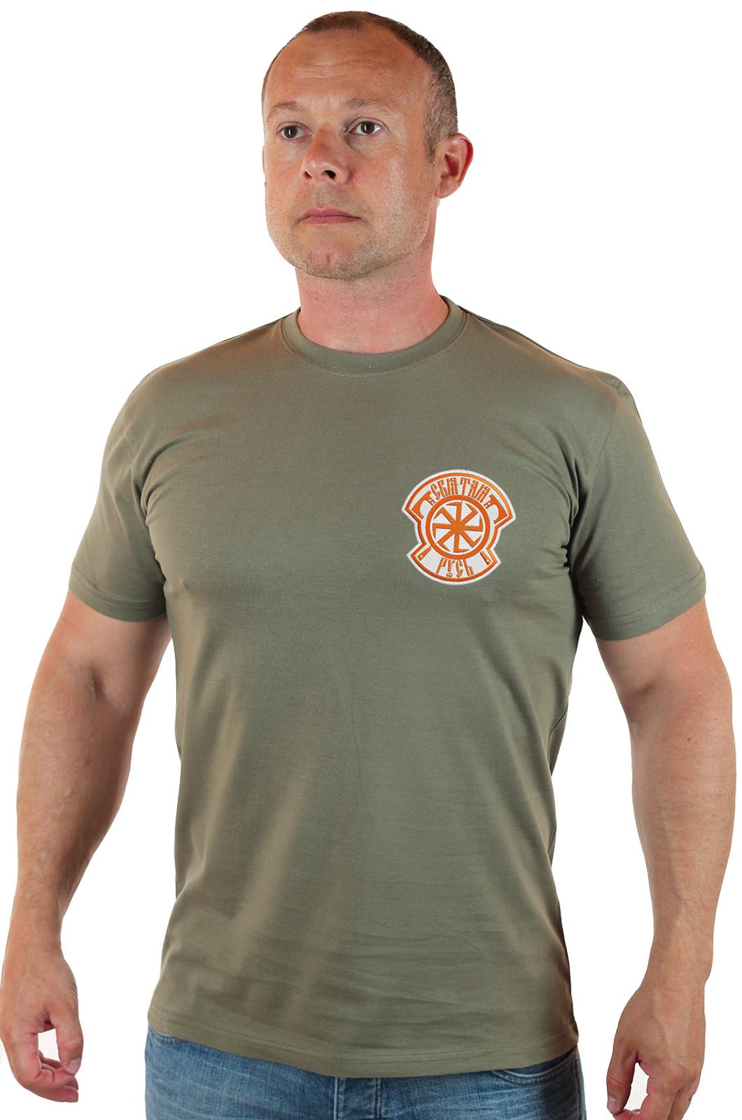 Мужская патриотическая футболка Святая Русь