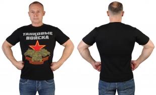 Хлопковая мужская футболка Танковые войска