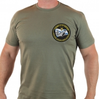 Милитари футболка с вышитым шевроном ВМФ ТАВКР Адмирал Кузнецов.
