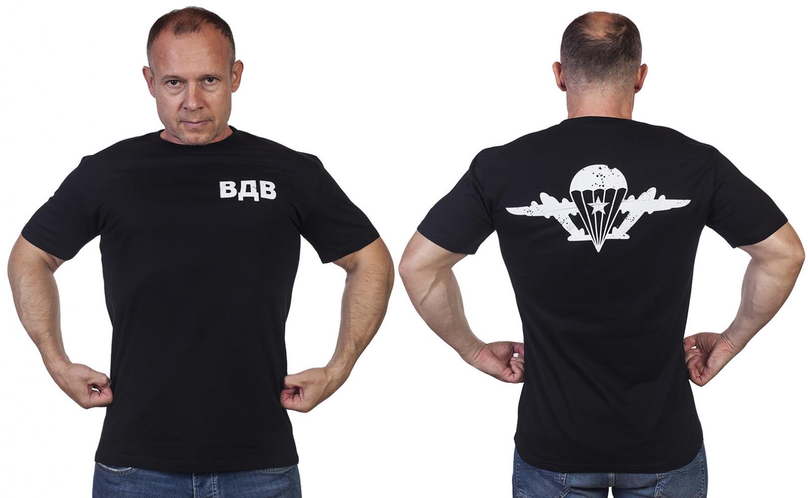 Черная уставная футболка ВДВ - купить с доставкой