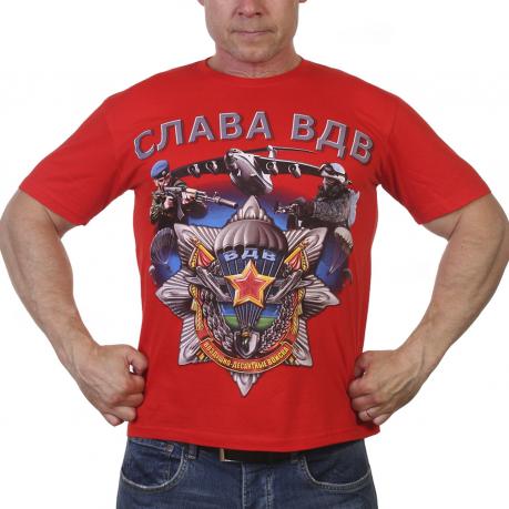 Красная футболка Слава ВДВ