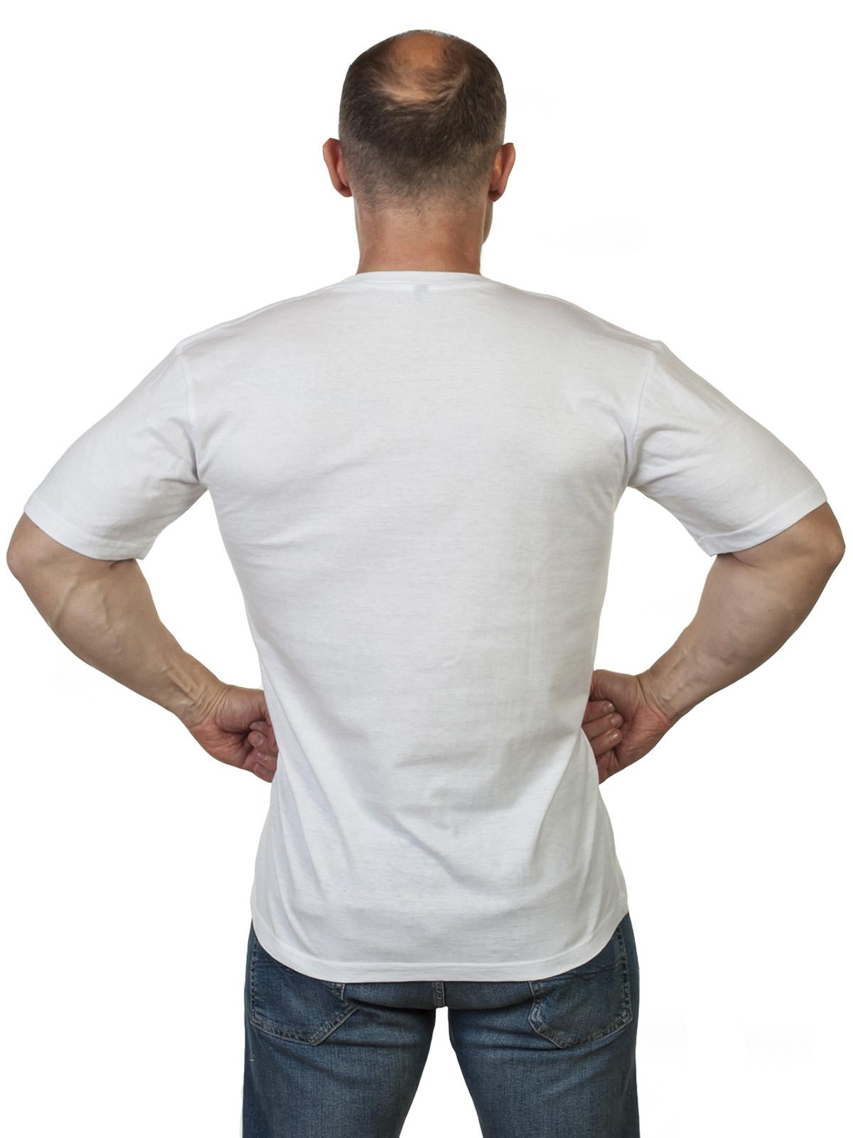 Белая однотонная футболка ВМФ с доставкой