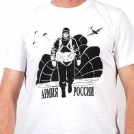 Мужская хлопковая футболка с изображением солдата Армии России