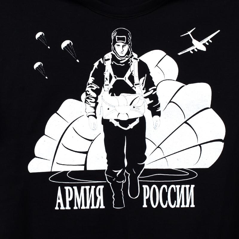 """Футболка """"Войска армии России"""" черная-логотип"""