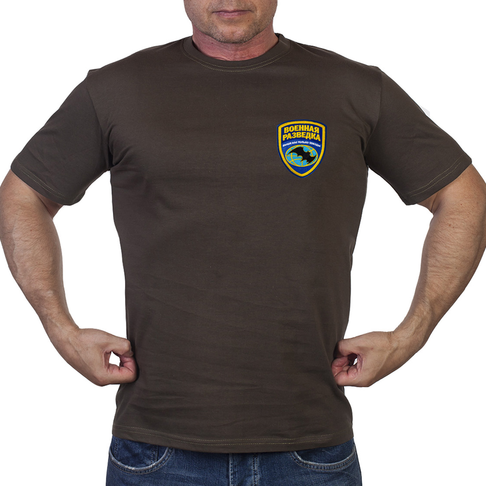 Милитари футболка с вышивкой Военной разведки